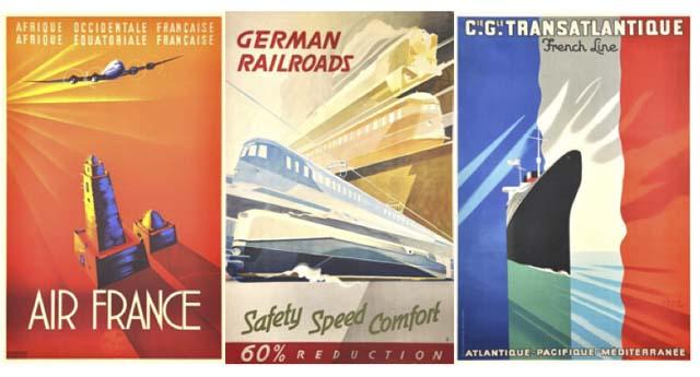 Posters de Viagem 1920-1950 na galeria Zeitlos, Berlim