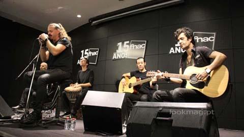 RAMP em mini-concerto na FNAC