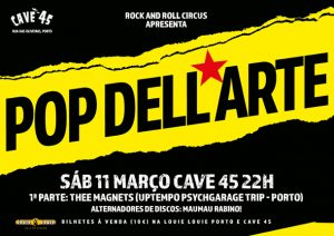 Pop Dell'Arte regressam ao Porto para um concerto único