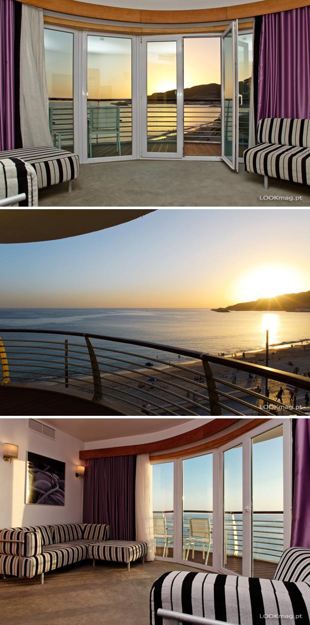 """Localizado à beira da Praia da Califórnia com os """"pés"""" quase dentro de água, o SANA Sesimbra Hotel apresenta-se dono de uma excelente localização."""