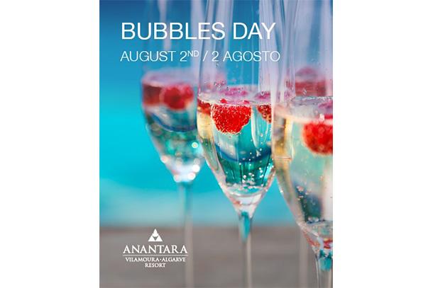 """Uma verdadeira batalha entre os principais produtores de forma a eleger o """"Best of Bubbles"""", é a proposta do Anantara Vilamoura para o Bubbles Day."""