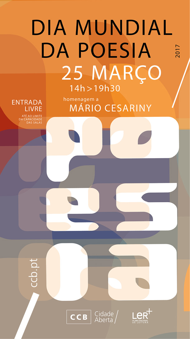 Dia Mundial da Poesia com Tributo a Mário Cesariny no CCB