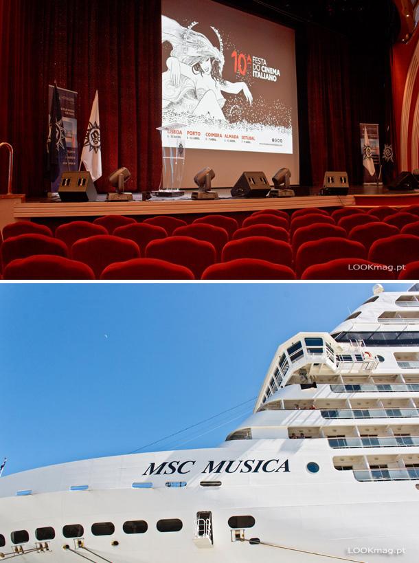 O cinema italiano atracou no MSC Musica