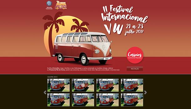 O II Festival Internacional VW acontece em três dias de muita animação, muitos carros, muitas memórias e lembranças, que celebra a icónica Volkswagen Transporter que vai já na sexta geração.