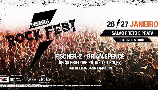 O Casino Estoril recebe a primeira edição do Cascais Rock Fest. Serão duas noites com as míticas bandas Fischer-Z, Brian Spence, Gun, Ted Poley dos Danger Danger, Reckless Love, Dan Reed e Danny Vaugh dos Tyketto.