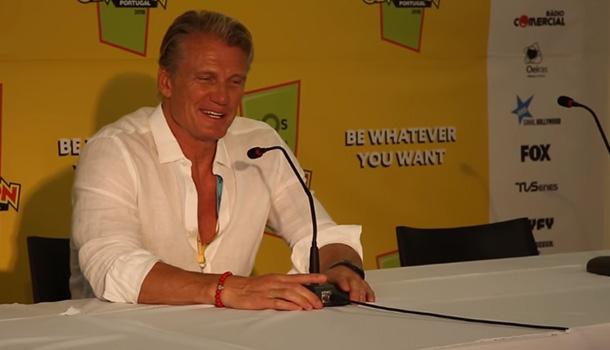 Conferência de imprensa de Dolph Lundgren na Comic Con