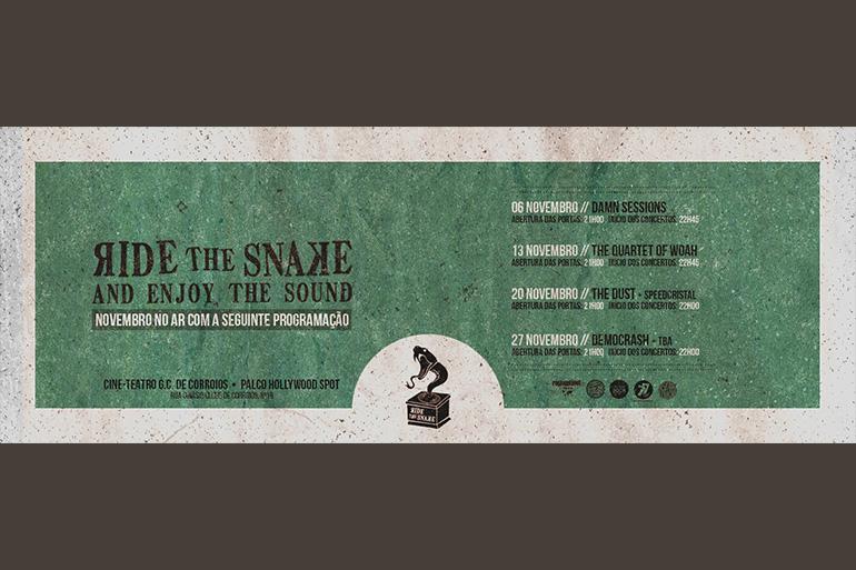 Ride the Snake anuncia programação no Bar Cine-Teatro GC Corroios - Hollywood Spot